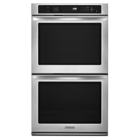 KitchenAid Architect II 30-in Self-Cleaning Single-Fan Double Electric Wall Oven (Stainless Steel)