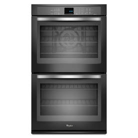 Whirlpool Ice 30-in Self-Cleaning Convection Double Electric Wall Oven (Black)