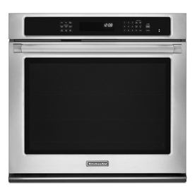 KitchenAid Pro Line Self-Cleaning Convection Single Electric Wall Oven (Stainless Steel) (Common: 30-in; Actual 30-in)