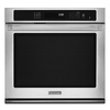 KitchenAid Pro-Line Handles 30-in Self-Cleaning Convection Single Electric Wall Oven (Stainless Steel)