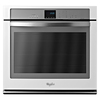 Whirlpool White Ice Self-Cleaning with Steam Convection Single Electric Wall Oven (White Ice) (Common: 30-in; Actual 30-in)