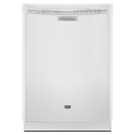 Maytag 53-Decibel Built-In Dishwasher with Hard Food Disposer (White) (Common: 24-in; Actual 23.875-in) ENERGY STAR