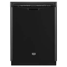 Maytag 24-in Built-In Dishwasher with Hard Food Disposer and Stainless Steel Tub (Black) ENERGY STAR