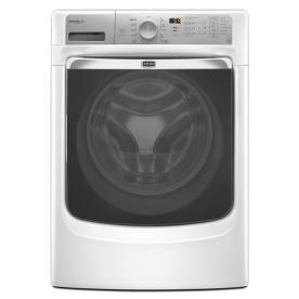 Maytag Maxima XL 4.3-cu ft High-Efficiency Stackable Front-Load Washer with Steam Cycle (White) ENERGY STAR