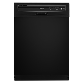 Maytag 24-in Built-In Dishwasher with Hard Food Disposer (Black) ENERGY STAR