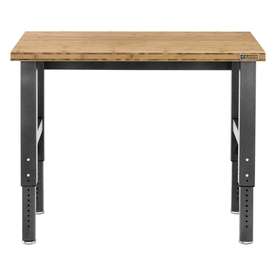 Shop Gladiator 48 In W X 42 In H Adjustable Wood Work Bench At