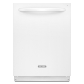 KitchenAid Superba Architect II 40-Decibel Built-in Dishwasher with Stainless Steel Tub (White) (Common: 24-in; Actual 23.875-in) ENERGY STAR