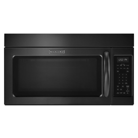KitchenAid 2-cu ft Over-the-Range Microwave with Sensor Cooking Controls (Black) (Common: 30-in; Actual: 29.875-in)