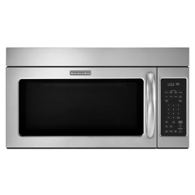KitchenAid 2-cu ft Over-The-Range Microwave with Sensor Cooking Controls (Stainless Steel) (Common: 30-in; Actual: 29.87-in)
