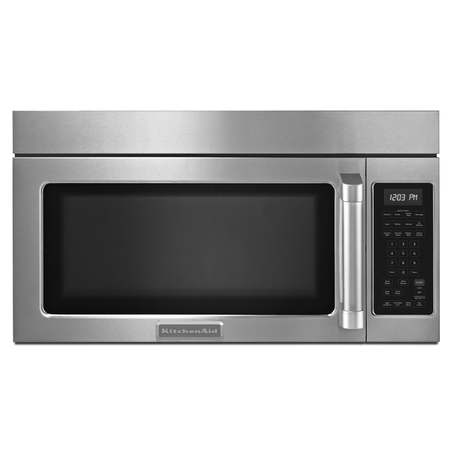 Shop KitchenAid 1 8 Cu Ft Over The Range Convection Microwave With