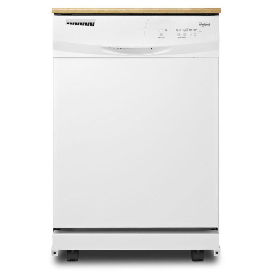 Shop Whirlpool 24.125-in 63-Decibel Portable Dishwasher