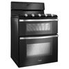 Whirlpool 30-in 5-Burner 3.9-cu ft/2.1-cu ft Self-Cleaning Double Oven Gas Range (Black Ice)