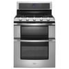 Whirlpool 30-in 5-Burner 3.9-cu ft/2.1-cu ft Self-Cleaning Double Oven Gas Range (Stainless Steel)
