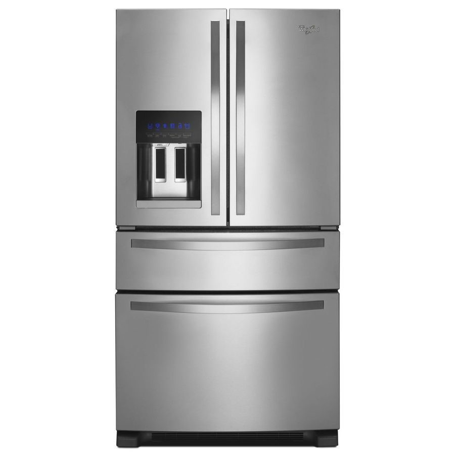 Shop Whirlpool 24 5 Cu Ft French Door Refrigerator With