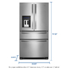 Whirlpool 24.5-cu ft French Door Refrigerator with Single Ice Maker (Monochromatic Stainless Steel)