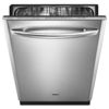 Maytag 50-Decibel Built-In Dishwasher with Hard Food Disposer (Monochromatic Stainless Steel) (Common: 24-in; Actual 23.875-in) ENERGY STAR