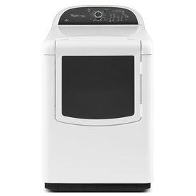 Whirlpool Cabrio 7.6-cu ft Electric Dryer with Steam Cycles (White)