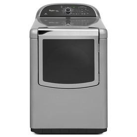 Whirlpool Cabrio 7.6-cu ft Electric Dryer with Steam Cycles (Monochromatic Stainless Steel)
