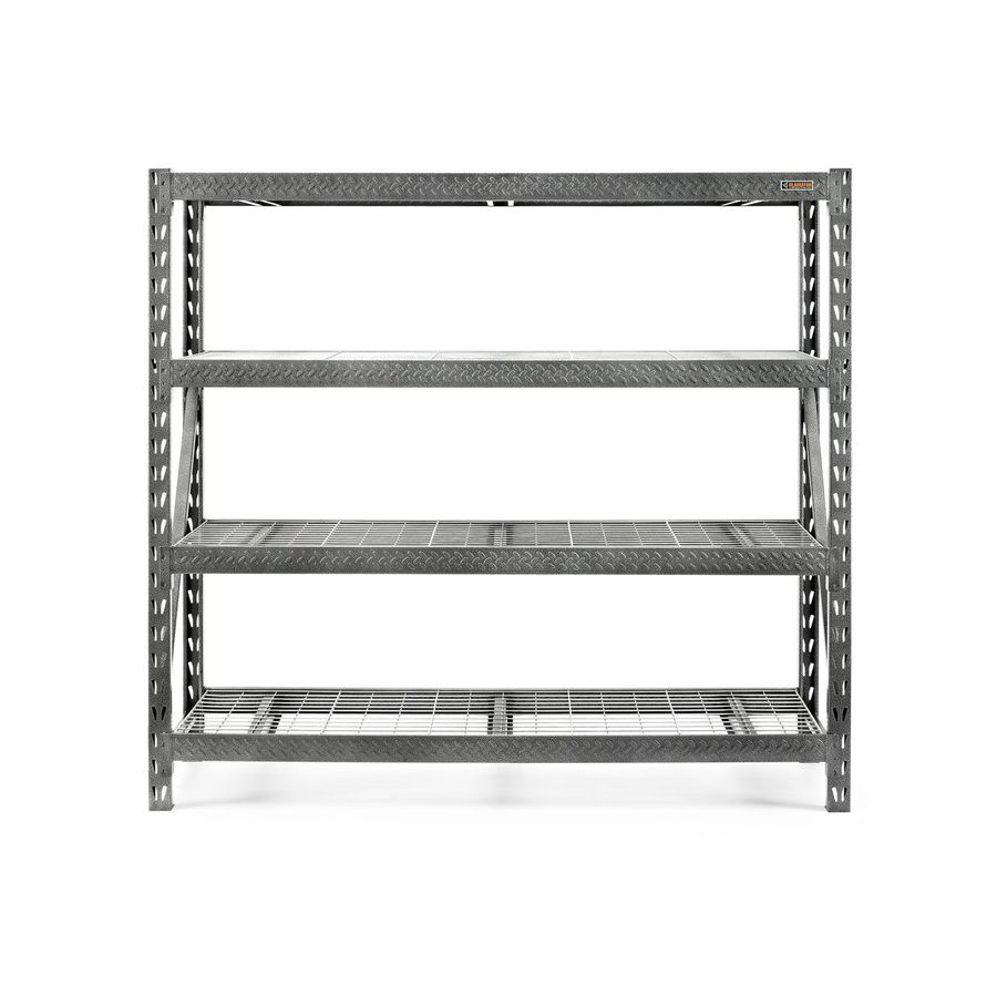 shop gladiator 72 in h x 77 in w x 24 in d 4 tier steel. Black Bedroom Furniture Sets. Home Design Ideas