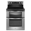 Whirlpool 30-in Smooth Surface 5-Element 4.2-cu ft / 2.5-cu ft Self-Cleaning Double Oven Electric Range (Stainless Steel)