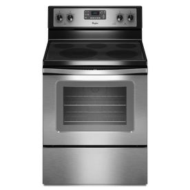 Shop whirlpool smooth surface freestanding 5 element 5 3 cu ft self