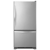 Whirlpool 22.07-cu ft Bottom-Freezer Refrigerator with Single Ice Maker (Stainless Steel) ENERGY STAR