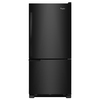 Whirlpool 18.7-cu ft Bottom-Freezer Refrigerator (Black) ENERGY STAR