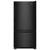Whirlpool 18.7-cu ft Bottom-Freezer Refrigerator with Single Ice Maker (Black) ENERGY STAR