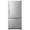 Whirlpool 18.7-cu ft Bottom-Freezer Refrigerator with Single Ice Maker (Stainless Steel) ENERGY STAR