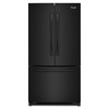 Whirlpool 25.2-cu ft French Door Refrigerator with Single Ice Maker (Black) ENERGY STAR