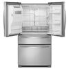 Whirlpool Gold 26.2-cu ft French Door Refrigerator with Single Ice Maker (Monochromatic Stainless Steel)