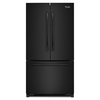 Whirlpool 20-cu ft Counter-Depth French Door Refrigerator with Single Ice Maker (Black) ENERGY STAR