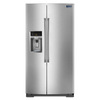 Maytag 25.6-cu ft Side-by-Side Refrigerator with Single Ice Maker (Stainless Steel)