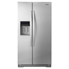 Whirlpool 20.6-cu ft Counter-Depth Side-by-Side Refrigerator with Single Ice Maker (Monochromatic Stainless Steel)
