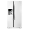 Whirlpool 19.9-cu ft Counter-Depth Side-by-Side Refrigerator with Single Ice Maker (White Ice)