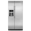 KitchenAid 22.6-cu ft Counter-Depth Side-by-Side Refrigerator with Single Ice Maker (Monochromatic Stainless Steel)