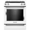 KitchenAid Smooth Surface 5-Element 6.4-cu ft Slide-in Convection Electric Range (White) (Common: 30-in; Actual 29.875-in)