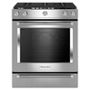 KitchenAid 5-Burner 5.8-cu ft Slide-In Convection Gas Range (Stainless Steel) (Common: 30-in; Actual 29.875-in)