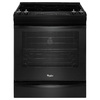 Whirlpool Gold Smooth Surface 5-Element Slide-In Convection Electric Range (Black) (Common: 30-in; Actual 29.875-in)
