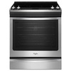 Whirlpool Gold Smooth Surface 5-Element Slide-In Convection Electric Range (Stainless Steel) (Common: 30-in; Actual 29.875-in)