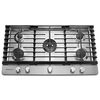 KitchenAid 5-Burner Gas Cooktop (Stainless Steel) (Common: 36-in; Actual: 36-in)