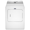 Maytag 7-cu ft Gas Dryer with Steam Cycles (White)