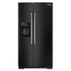 Maytag 25.6-cu ft Side-by-Side Refrigerator with Single Ice Maker (Black)