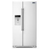 Maytag 25.6-cu ft Side-by-Side Refrigerator with Single Ice Maker (White)