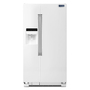 Maytag 24.6-cu ft Side-by-Side Refrigerator with Single Ice Maker (White)