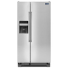 Maytag 24.6-cu ft Side-by-Side Refrigerator with Single Ice Maker (Stainless Steel)