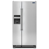 Maytag 21.3-cu ft Side-by-Side Refrigerator with Single Ice Maker (Stainless Steel)