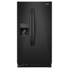 Whirlpool 21.2-cu ft Side-by-Side Refrigerator with Single Ice Maker (Black) ENERGY STAR
