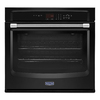Maytag Self-Cleaning Single Electric Wall Oven (Black) (Common: 27-in; Actual 27-in)