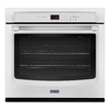 Maytag Self-Cleaning Single Electric Wall Oven (White) (Common: 27-in; Actual 27-in)